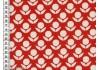 Tissu Kokka Stamped fleurs rouges dans TISSUS JAPONAIS par Couture et Cie