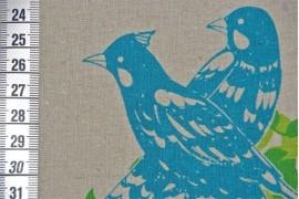 Tissu Echino Oiseaux fond violet