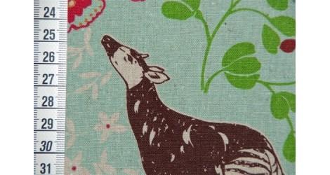 Tissu Echino Savane turquoise dans TISSUS JAPONAIS par Couture et Cie