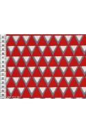 Tissu Kokka Stamped triangles rouges