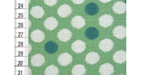 Olympus Pois sur fond vert dans TISSUS JAPONAIS par Couture et Cie
