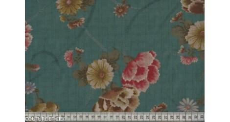 Tissu Japonais pivoine vert d'eau dans TISSUS JAPONAIS par Couture et Cie