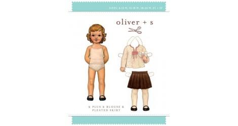 2 + 2 Blouse & Pleated skirt pattern dans Oliver S par Couture et Cie
