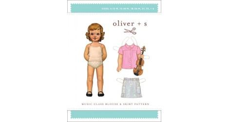 Music Class Blouse & Skirt pattern dans Oliver S par Couture et Cie