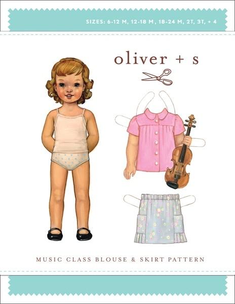 Music Class Blouse & Skirt pattern
