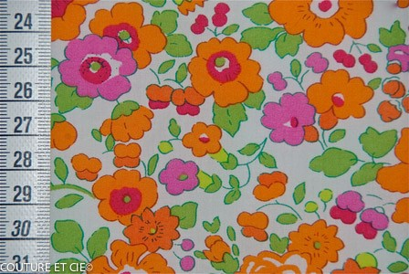 Liberty Betsy orange fluo
