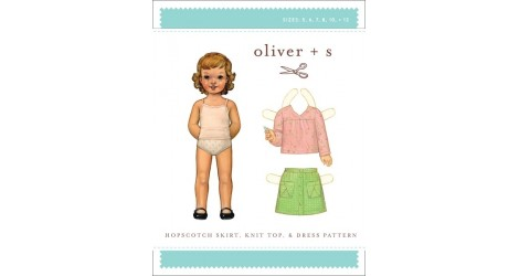 Hopscotch Skirt, Knit Top & Dress pattern dans Oliver S par Couture et Cie