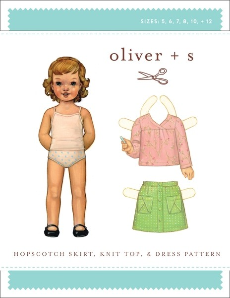 Hopscotch Skirt, Knit Top & Dress pattern