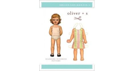 Seashore Sundress pattern 6 mois à 4 ans dans Oliver S par Couture et Cie