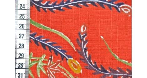 """Tissu Kokka Oiseau de Feu\\"""" rouge\\"""" dans TISSUS JAPONAIS par Couture et Cie"""