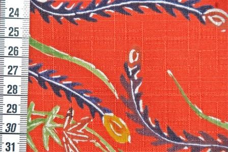 """Tissu Kokka Oiseau de Feu"""" rouge"""""""