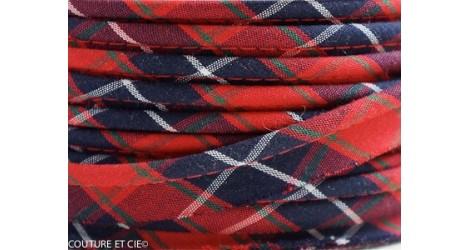 Passepoil Tartan rouge dans PASSEPOILS par Couture et Cie