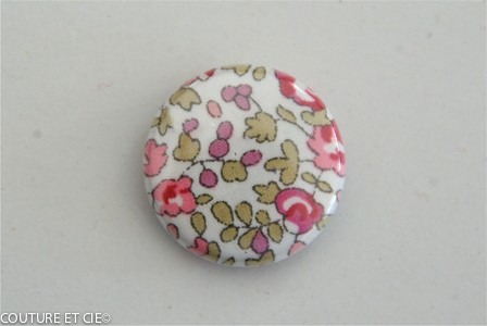 Petit Badge Liberty Eloise rose