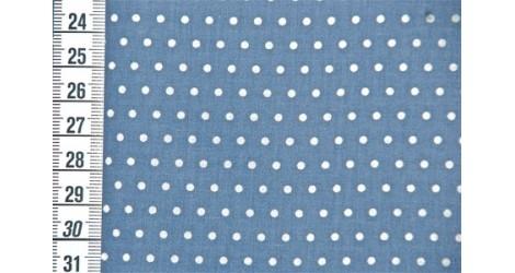 Tissu Petit Pois bleu dauphin dans Tissus Pois par Couture et Cie