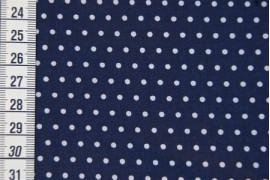 Tissu Petit Pois bleu marin