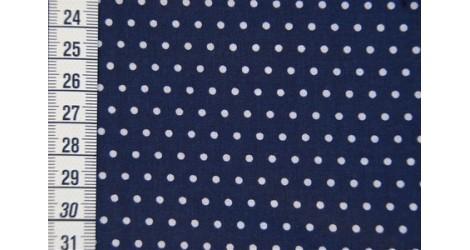 Tissu Petit Pois bleu marin dans Tissus Pois par Couture et Cie