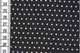 Tissu Petit Pois noir