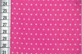 Tissu Petit Pois rose bonbon
