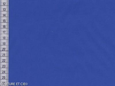 Popeline bleu roi